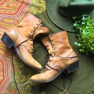 SALE💃🏻Josef Seibel Vintage Leather Lace Up Boots